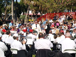 St Armands Ring of Fame Circus Band at Induction ceremony