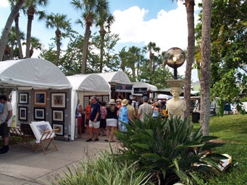 St Armands Art Festival Artist Tents