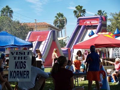 The Kids Zone at the Sun Fiesta