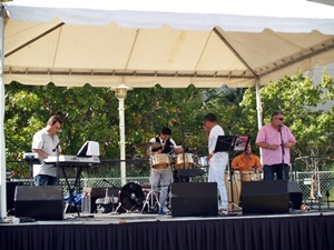A hod Latino Salsa Band performing at the Tampa Cigar Fest