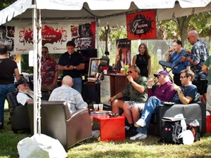 One of the cigar vendor tents at the Tampa Cigar Fest
