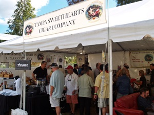 The Tampa Swwethears Cigar Tent at the Tamap Cigar Fest