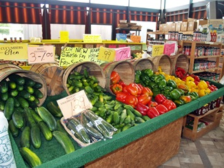 Some of the produce market at the Dome Flea Market in Sarasota County Florida