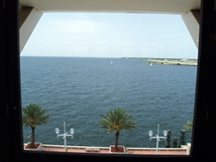 the 4th floor view from the columbia restaurant at the pier st pete florida