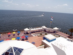 the 5th floor observation deck at the pier st pete florida