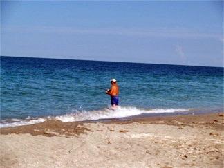 Fishing on Turtle Beach