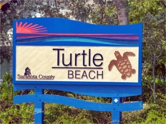 Turtle Beach Sign South Siesta Key