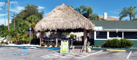 Turtle Beach Grill Tiki Hut Roof on Siesta Key