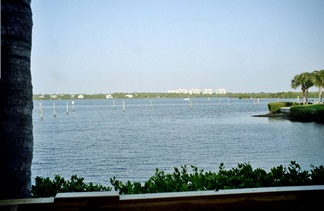 Turtles Restaurant view of Little Sarasota Bay