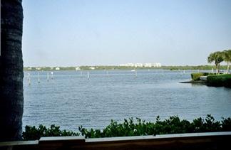 Turtles Restaurant view of Little Sarasota Bay