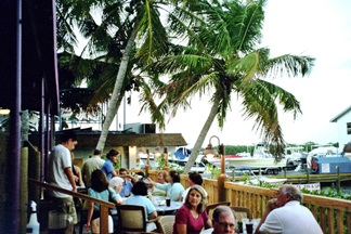 The lower deck at Turtles Restaurant on Siesta Key