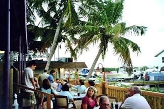 The lower deck at Turtles Restaurant on Siesta Key