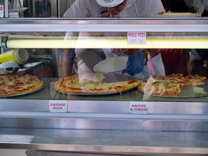 Slicing some pizza at the Venice Italian Feast