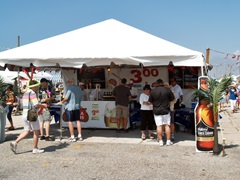 One of the beverage tents at the annual Italian Feast in Venice Florida
