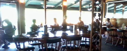 The main dining room at The Waterfront Too Grill and Steakhouse in Nokomis, FL