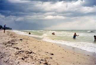 Hurricane Frances off Nokomis Beach on Casey Key Florida