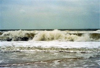 The shore after Hurricane Frances passes in 2004