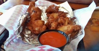 Golden chicken wings appetizer