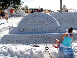 Siesta Key master sand sculpting banner