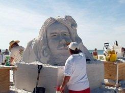 Siesta Key master sand sculpting competition on Siesta Key Beach