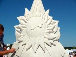 Siesta Key sand sculpting contest on the beach