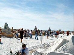 Siesta Key Florida annual sand sculpting competition near Sarasota