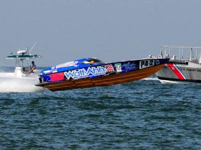 National Guard/Watt-Ahh Race Boat