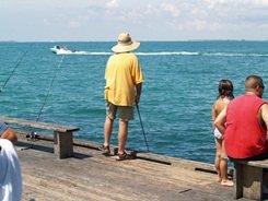 Fishing off Anna Maria Florida City Pier