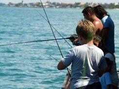 Anna Maria Island Florida City Pier Fishermen