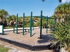 The work-out station at Caspersen Beach Park in Venice Florida
