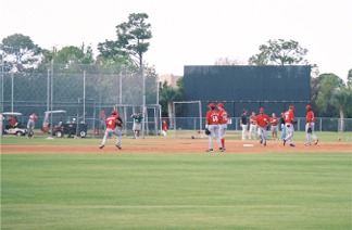 Cincinnati Reds Spring training infield practice