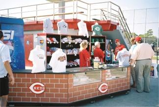 The Cincinnati Reds souvenir stand at Ed Smith Staium Sarasota Florida