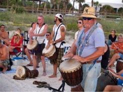Nokomis Drum Circle Drummers