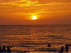 Sunset at Nokomis Beach's Drum Circle