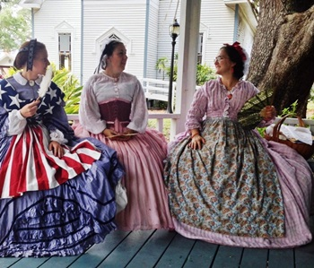 Ladies on the Gazebo at Heritage Days Open House