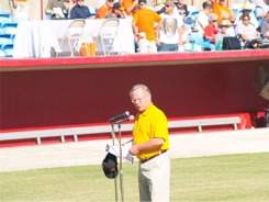 Orioles sportscaster Gary Thorne at Ed Smith Stadium Sarasota Florida