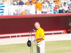 Orioles sportscaster Gary Thorne at Ed Smith Stadium Sarasota Florida