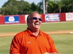 Orioles Manager Dave Trembley at Ed Smith Stadium Sarasota Florida