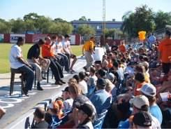 Orioles fan forum at 2009 fan fest at Ed Smith Stadium Sarasota Florida