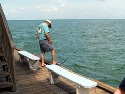 Fisherman on the Pier at Rod and Reel Pier Anna Maria Island Florida