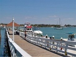 The Bridge Street Pier at Rotten Ralphs Restaurant on Anna Maria Island Florida