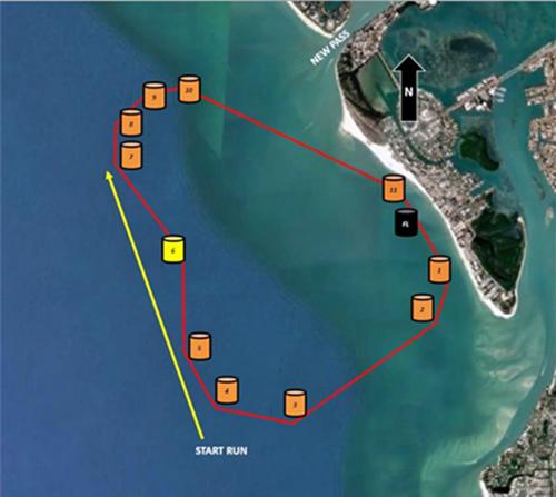 The 2021 P1 Offshore Race Course