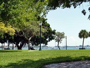 Bayfront Park Sarasota looking out at Sarasota Bay