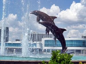 Dolphin Fountain in Sarasota