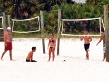 Beach volleyball on Siesta Key Florida