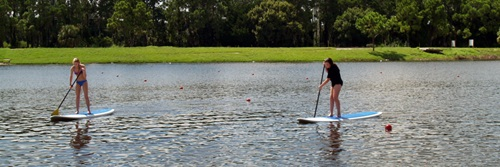 Paddle boarding at Sarasota's Benderson Park