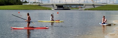 Stand up Paddle Board racing at Benderson Park in Sarasota