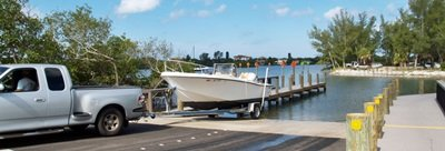 Boat ramp at Blckburn Point Park Osprey Florida