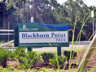 Blackburn Point Park sign