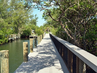 Blackburn Point Park boardwalk, Sarasota County